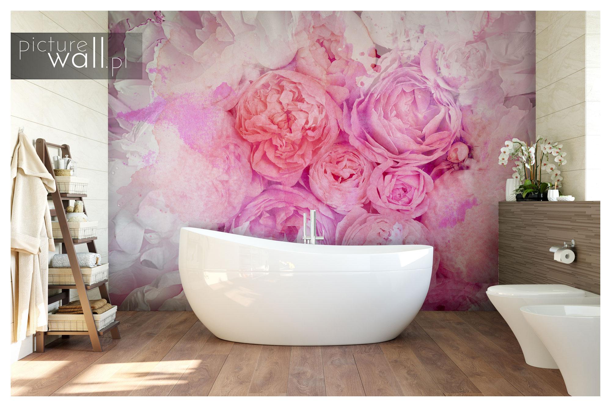 Łazienka z fototapetą autorską Kobiece Marzenie