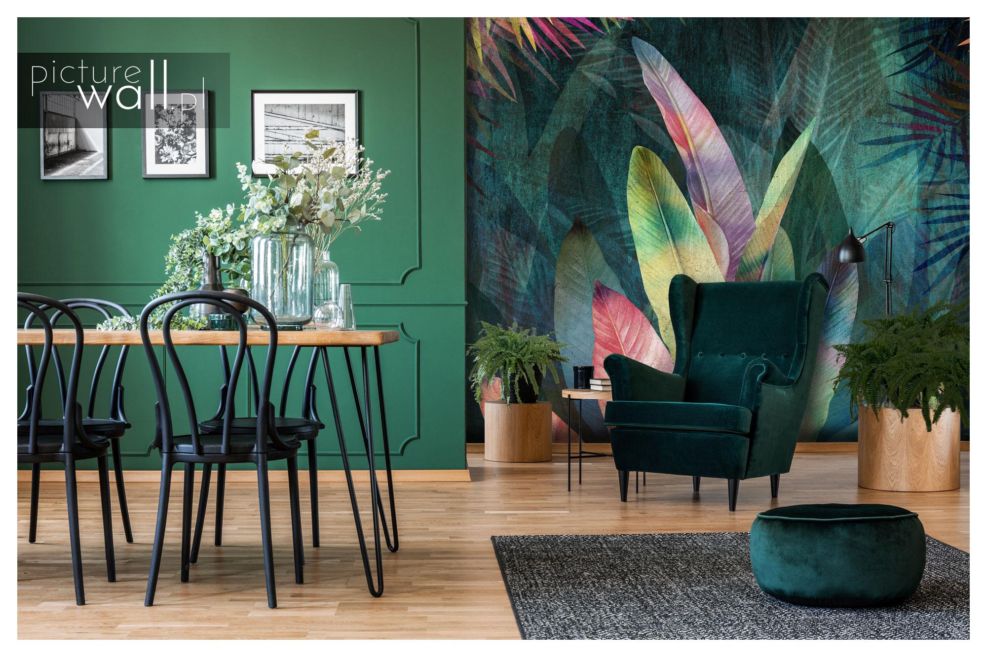 Fototapeta Kolorowe Liście Wersja Druga - efektowne powiększenie salonu