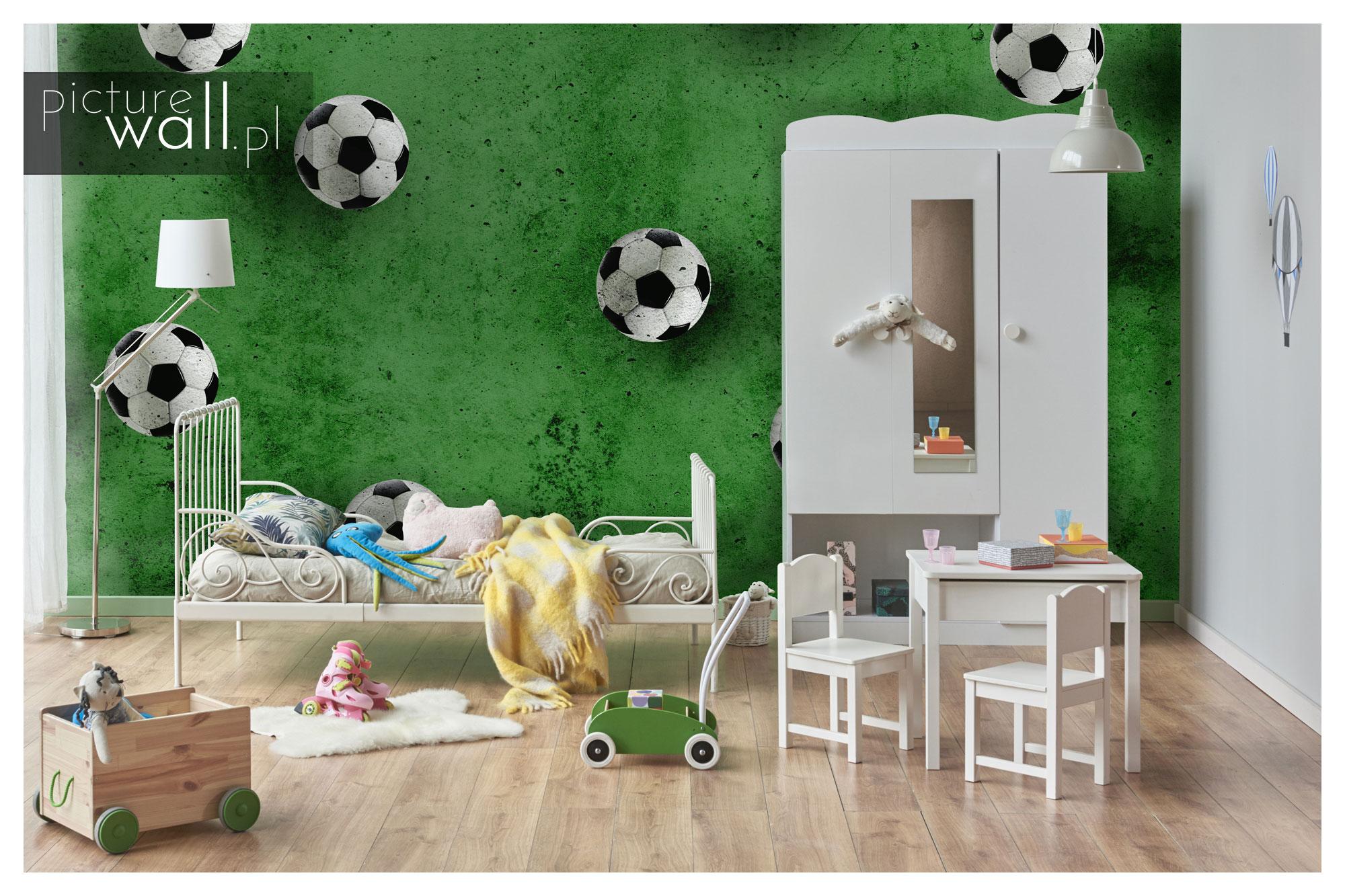 Fototapeta Spadające Piłki Zielone w pokoju dziecięcym