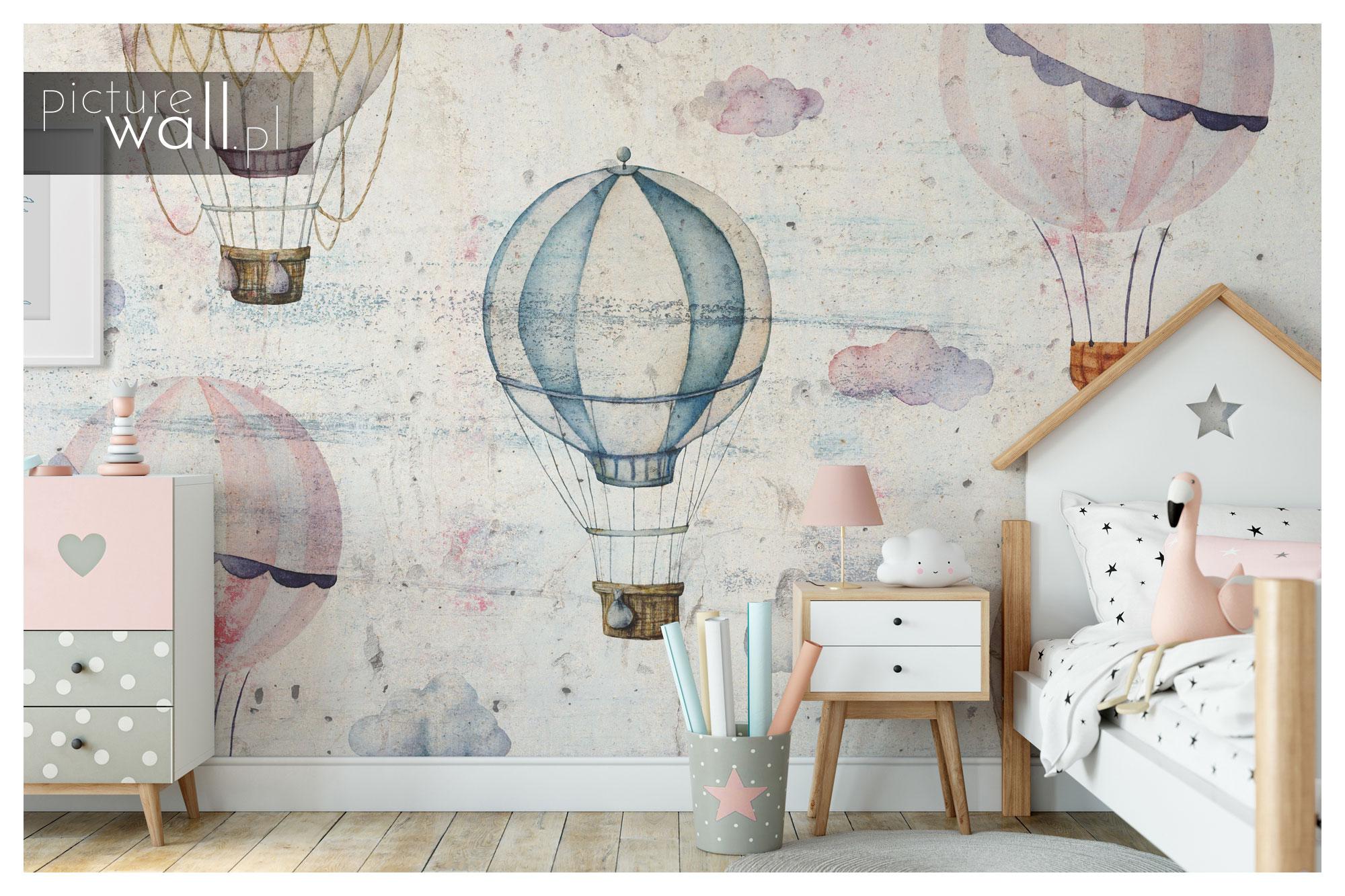 Pokój dziecięcy z fototapetą pod wymiar Pastelowe Balony