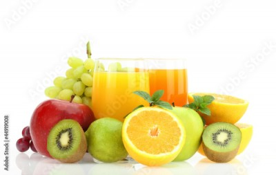 Fototapeta Fresh fruits and juice