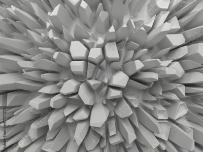 Fototapeta abstract white faceted background