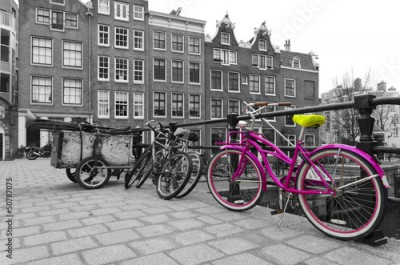 Naklejka pink bicycle