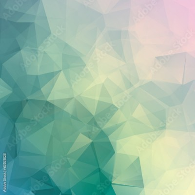 Fototapeta Geometric triangle pastel colored vector background