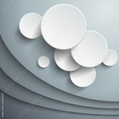 Fototapeta Abstract background with 3d vector waves and circles.