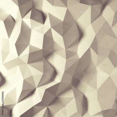 Fototapeta Abstract vintage faceted geometric paper background