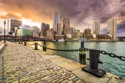 Naklejka Boston, Massachusetts Skyline at Fan Pier