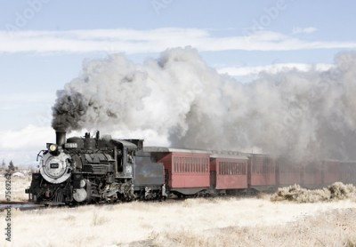Fototapeta Cumbres and Toltec Narrow Gauge Railroad, Colorado, USA