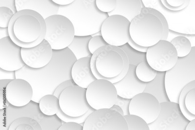 Fototapeta Abstract paper circle design silver background texture.