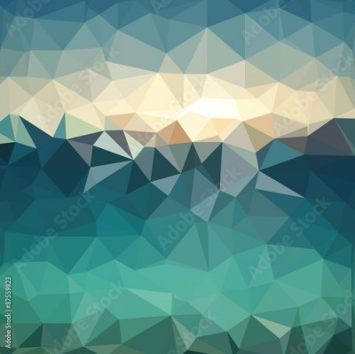 Fototapeta Triangle background. Colorful polygons. Abstract background