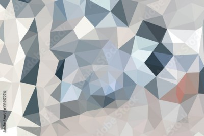 Fototapeta Multicolor abstract rumpled triangular background, low poly