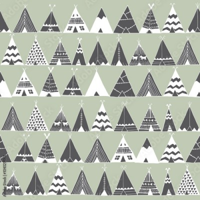 Fototapeta Teepee native american summer tent illustration.