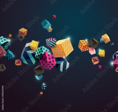 Fototapeta Abstract colorful background with geometric elements
