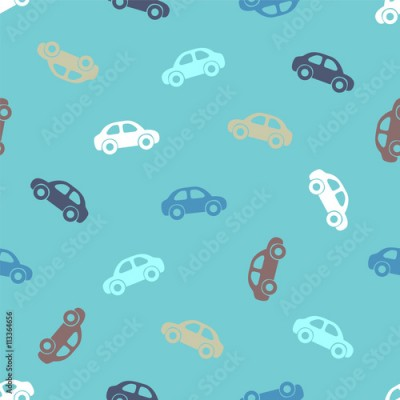 Fototapeta Seamless pattern - cars