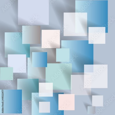 Fototapeta Vector abstract background with squares