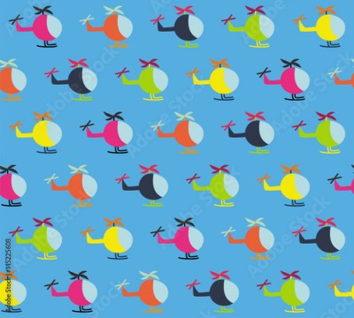 Fototapeta Helicopter children pattern on the sky one direction