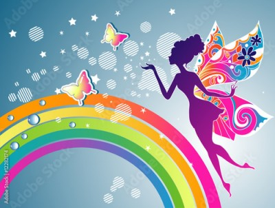 Fototapeta Rainbow Fairy graphic