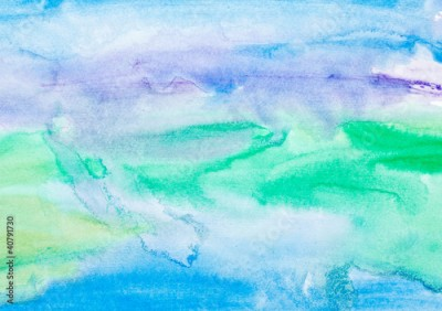 Naklejka color strokes watercolor painting art