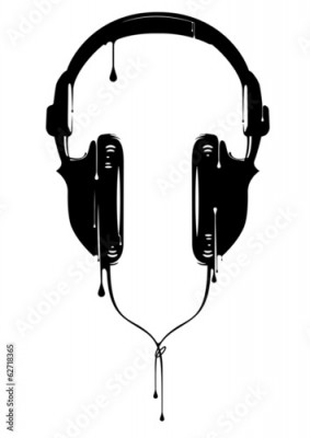 Fototapeta Painted Headphones