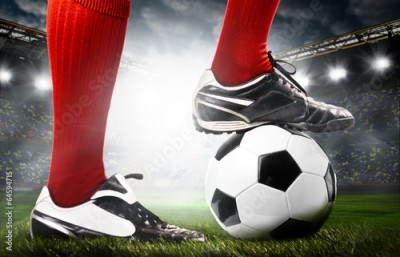 Fototapeta legs of a soccer player