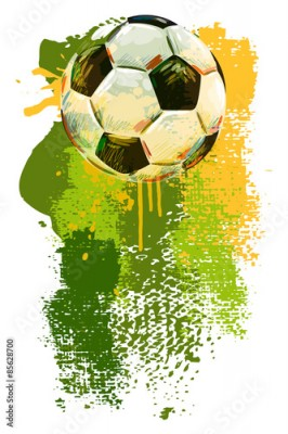 Naklejka Soccer ball Banner. All elements are in separate layers and grouped.