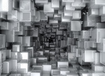 Fototapeta abstract background - 3D Cubes