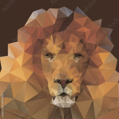 Fototapeta lion in the style of origami
