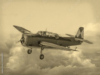 Fototapeta 'Vintage Style' image of World of American War 2 Torpedo bomber. First saw combat in 1942