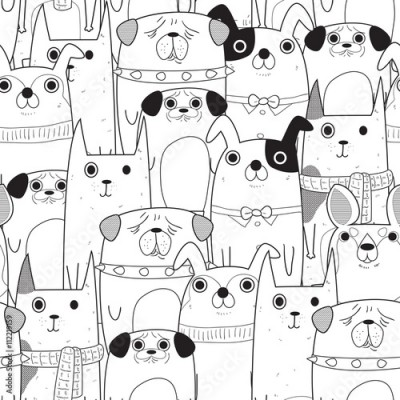 Fototapeta Seamless Dogs pattern