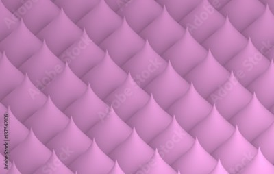 Fototapeta 3d geometric pattern with curved pink cones